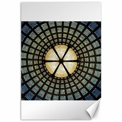 Stained Glass Colorful Glass Canvas 12  X 18   by Onesevenart