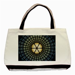 Stained Glass Colorful Glass Basic Tote Bag (two Sides) by Onesevenart