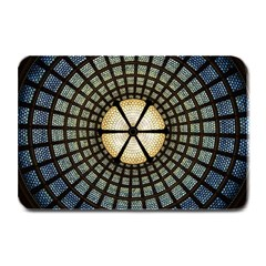 Stained Glass Colorful Glass Plate Mats by Onesevenart