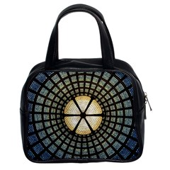 Stained Glass Colorful Glass Classic Handbags (2 Sides) by Onesevenart