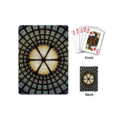 Stained Glass Colorful Glass Playing Cards (mini)  by Onesevenart