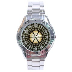 Stained Glass Colorful Glass Stainless Steel Analogue Watch by Onesevenart