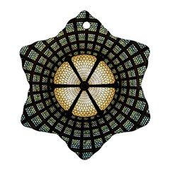 Stained Glass Colorful Glass Ornament (snowflake) by Onesevenart