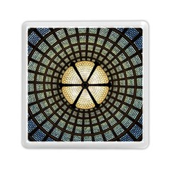 Stained Glass Colorful Glass Memory Card Reader (square)  by Onesevenart