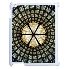 Stained Glass Colorful Glass Apple Ipad 2 Case (white) by Onesevenart