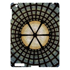 Stained Glass Colorful Glass Apple Ipad 3/4 Hardshell Case by Onesevenart
