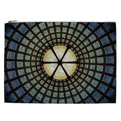 Stained Glass Colorful Glass Cosmetic Bag (xxl)  by Onesevenart
