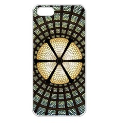 Stained Glass Colorful Glass Apple Iphone 5 Seamless Case (white) by Onesevenart