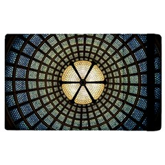 Stained Glass Colorful Glass Apple Ipad 3/4 Flip Case by Onesevenart