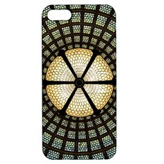 Stained Glass Colorful Glass Apple Iphone 5 Hardshell Case With Stand by Onesevenart