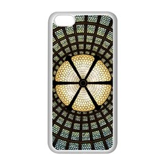 Stained Glass Colorful Glass Apple Iphone 5c Seamless Case (white) by Onesevenart