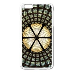 Stained Glass Colorful Glass Apple Iphone 6 Plus/6s Plus Enamel White Case by Onesevenart