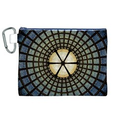 Stained Glass Colorful Glass Canvas Cosmetic Bag (xl) by Onesevenart
