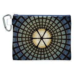 Stained Glass Colorful Glass Canvas Cosmetic Bag (xxl) by Onesevenart