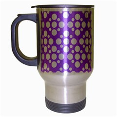 The Background Background Design Travel Mug (silver Gray) by Onesevenart