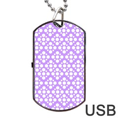The Background Background Design Dog Tag Usb Flash (two Sides) by Onesevenart