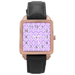The Background Background Design Rose Gold Leather Watch  by Onesevenart