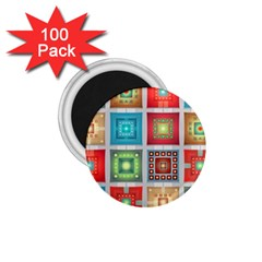 Tiles Pattern Background Colorful 1 75  Magnets (100 Pack)  by Onesevenart