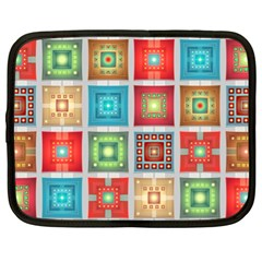 Tiles Pattern Background Colorful Netbook Case (xl)  by Onesevenart