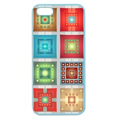 Tiles Pattern Background Colorful Apple Seamless Iphone 5 Case (color) by Onesevenart