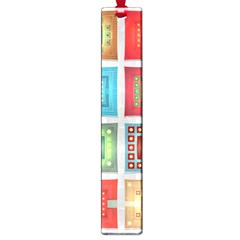 Tiles Pattern Background Colorful Large Book Marks by Onesevenart