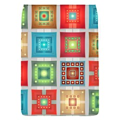 Tiles Pattern Background Colorful Flap Covers (s)  by Onesevenart