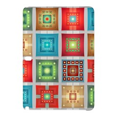 Tiles Pattern Background Colorful Samsung Galaxy Tab Pro 12 2 Hardshell Case by Onesevenart