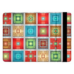 Tiles Pattern Background Colorful Samsung Galaxy Tab Pro 12 2  Flip Case by Onesevenart