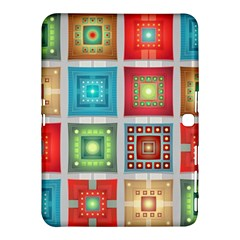 Tiles Pattern Background Colorful Samsung Galaxy Tab 4 (10 1 ) Hardshell Case  by Onesevenart