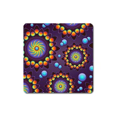 Texture Background Flower Pattern Square Magnet by Onesevenart
