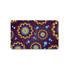 Texture Background Flower Pattern Magnet (name Card) by Onesevenart