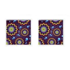 Texture Background Flower Pattern Cufflinks (square) by Onesevenart