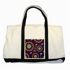 Texture Background Flower Pattern Two Tone Tote Bag by Onesevenart