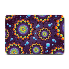 Texture Background Flower Pattern Small Doormat  by Onesevenart