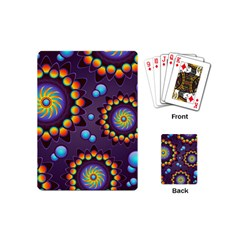 Texture Background Flower Pattern Playing Cards (mini)  by Onesevenart