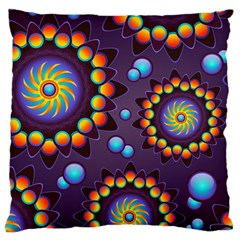 Texture Background Flower Pattern Large Cushion Case (two Sides) by Onesevenart