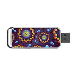 Texture Background Flower Pattern Portable Usb Flash (two Sides) by Onesevenart