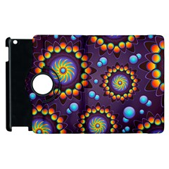 Texture Background Flower Pattern Apple Ipad 2 Flip 360 Case by Onesevenart