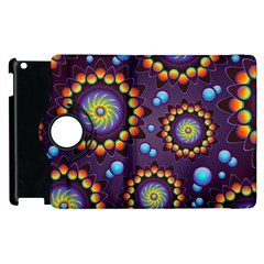 Texture Background Flower Pattern Apple Ipad 3/4 Flip 360 Case by Onesevenart