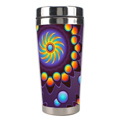 Texture Background Flower Pattern Stainless Steel Travel Tumblers by Onesevenart