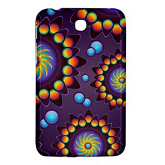 Texture Background Flower Pattern Samsung Galaxy Tab 3 (7 ) P3200 Hardshell Case  by Onesevenart