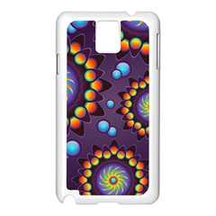 Texture Background Flower Pattern Samsung Galaxy Note 3 N9005 Case (white) by Onesevenart
