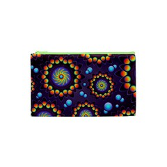 Texture Background Flower Pattern Cosmetic Bag (xs) by Onesevenart