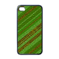 Stripes Course Texture Background Apple Iphone 4 Case (black) by Onesevenart