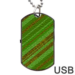 Stripes Course Texture Background Dog Tag Usb Flash (one Side) by Onesevenart