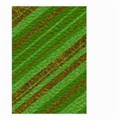 Stripes Course Texture Background Small Garden Flag (two Sides) by Onesevenart
