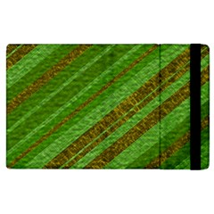 Stripes Course Texture Background Apple Ipad 2 Flip Case by Onesevenart