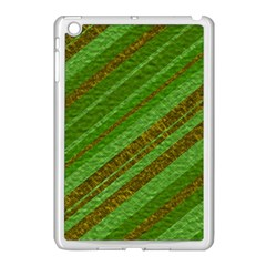 Stripes Course Texture Background Apple Ipad Mini Case (white) by Onesevenart