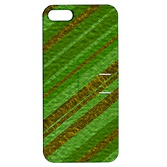 Stripes Course Texture Background Apple Iphone 5 Hardshell Case With Stand by Onesevenart