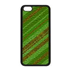 Stripes Course Texture Background Apple Iphone 5c Seamless Case (black) by Onesevenart